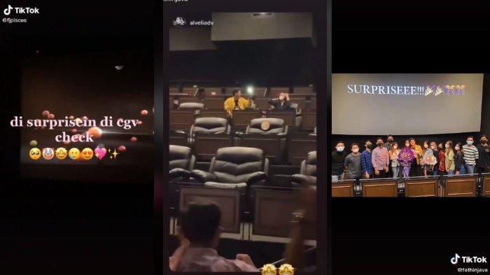 VIRAL Video Wanita Dapat Kejutan Ulang Tahun Pakai Layar Bioskop, Ini Kisah di Baliknya