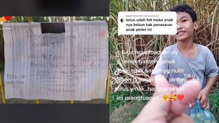 VIRAL Video Bocah SD Minta Buah Jambu ke Pemiliknya Lewat Surat, Berikut Ceritanya
