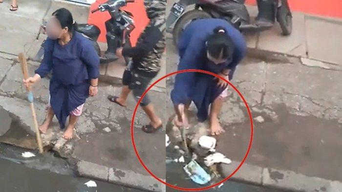 Viral Video Emak-emak Masukkan Sampah ke Lubang Selokan, Ini Cerita dari si Perekam