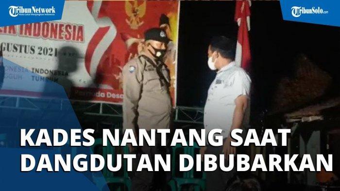 VIRAL Video Kades Menolak Dibubarkan saat Gelar Dangdutan Peringatan HUT RI, Dorong Anggota Polisi