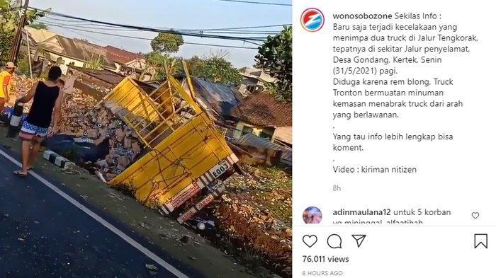 VIRAL Video Kecelakaan Maut di Jalur Tengkorak Wonosobo, Truk Tabrak Motor, 4 Orang Tewas