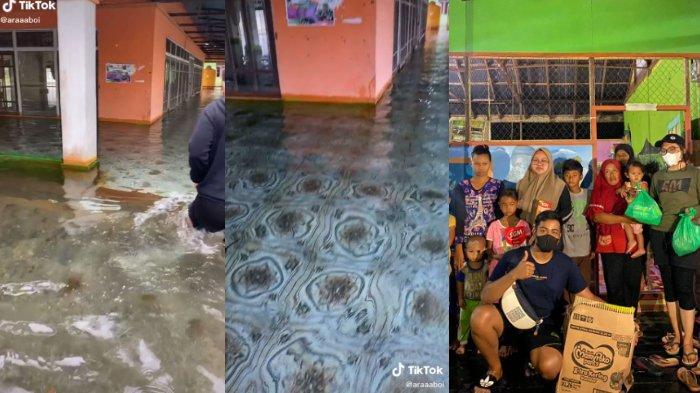 Viral Masjid Terendam Banjir di Kalsel, Pengunggah Berasal dari Solo Terjun Langsung Serahkan Bansos