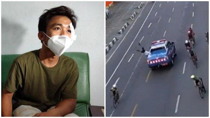 VIRAL Video Mobil Rescue Tabrak Pesepeda di Makassar, Begini Kondisi Korban, Polisi Beri Penjelasan