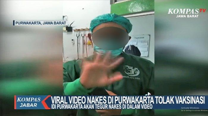 VIRAL Video Nakes Tolak Vaksin, Ngaku untuk Hiburan, Tertekan Ketemu Pasien Covid-19 Setiap Hari