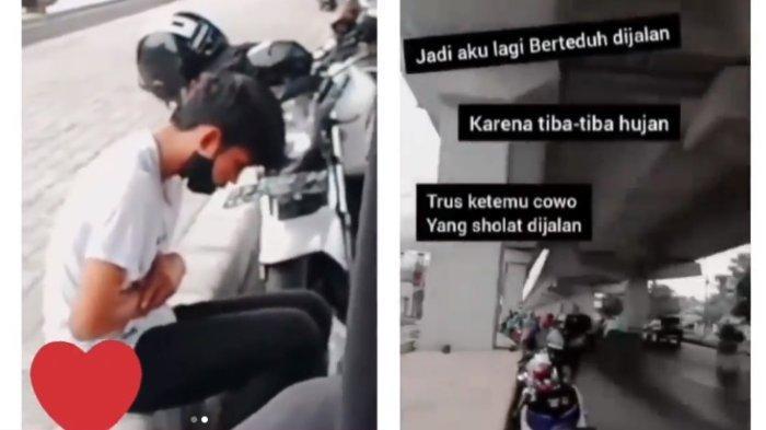VIRAL Disebut Idaman, Pemuda Ini Salat saat Berteduh di Bawah Tol Layang Makassar, Begini Ceritanya