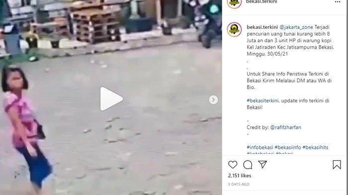 VIRAL Video Pencurian di Bekasi, Ibu-ibu Gondol Uang Rp7 Juta dan 3 HP, Pelaku Kini Diburu Polisi