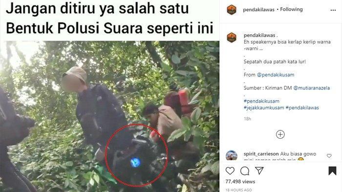 Viral Video Pendaki Bawa Sound Portable, Pegiat Konservasi Ingatkan Apa Esensi Mendaki Gunung