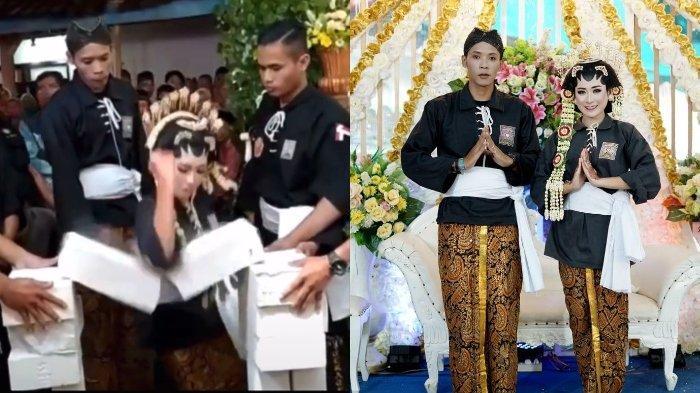 Viral video pengantin wanita lakukan atraksi pecahkan balok di hari pernikahan