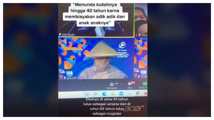 Viral Video Pria Berusia 58 Tahun Kuliah S1.