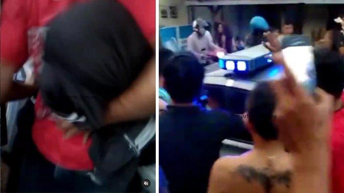 VIRAL Video Pria Diselamatkan Polisi dari Amukan Massa, Dituduh Curi Tabung Gas, Ini Pengakuannya