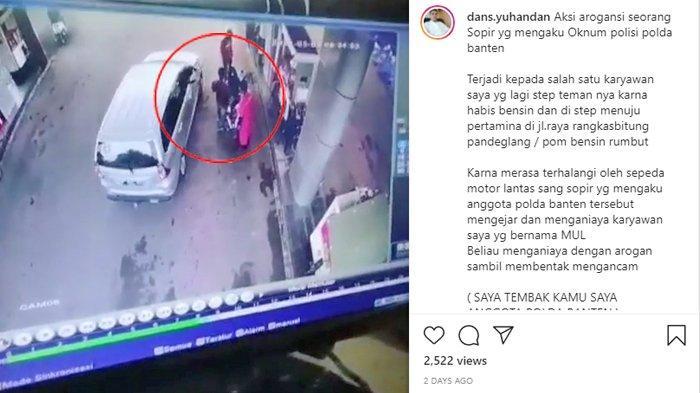 VIRAL Video Pria Ngaku Anggota Polda Banten & Ancam Tembak Warga di SPBU, Polres Lebak Buru Pelaku