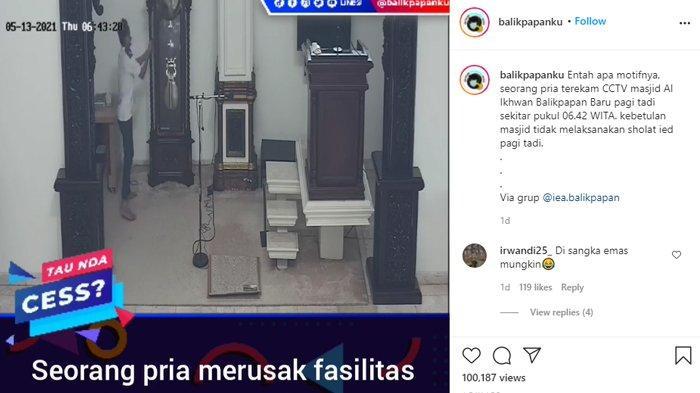 VIRAL Video Pria Rusak Fasilitas Masjid, Pelaku Berhasil Diringkus Polisi, Motif Masih Misteri