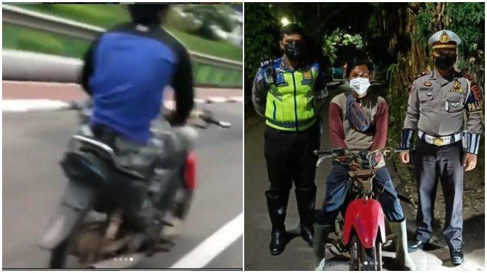 Viral Video Pria Sirkus di Atas Motor, Duduk Bersila dan Lepas Stang, Berakhir Diamankan Polisi