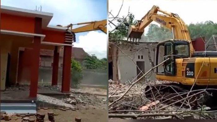 VIRAL Video Suami Hancurkan Rumah Hasil Merantau di Korea Pakai Ekskavator, Lantaran Istri Selingkuh