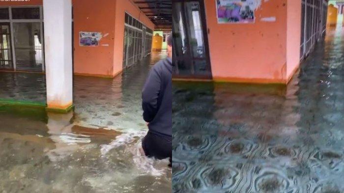 Viral Video Sebuah Masjid Terendam Banjir Air yang Bening di Kalsel, Ini Kata Pengunggah
