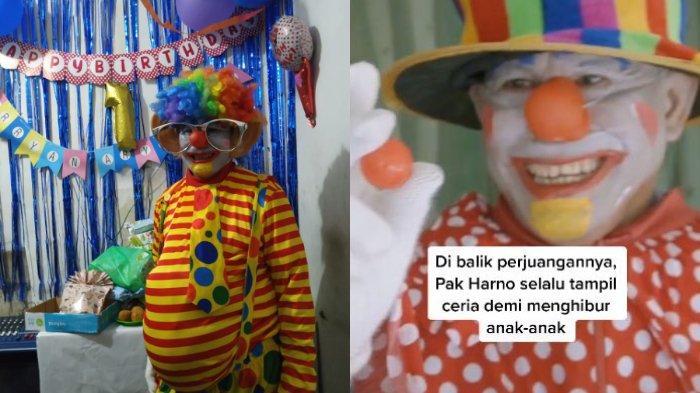 Sosok Pak Harno yang Viral 28 Tahun Menjadi Badut, Mengaku Senang Hibur Anak-Anak Agar Tetap Tertawa