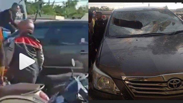 VIRAL VIDEO Warga Hancurkan Mobil yang Tabrak Rombong Pentol di Surabaya, Sopir Pribadi Babak Belur