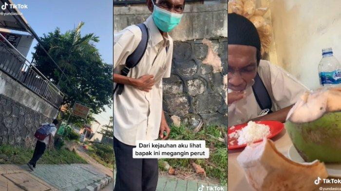 Viral warganet ajak makan pria tunawicara, diduga sudah menahan lapar seharian, ini kisah lengkapnya.