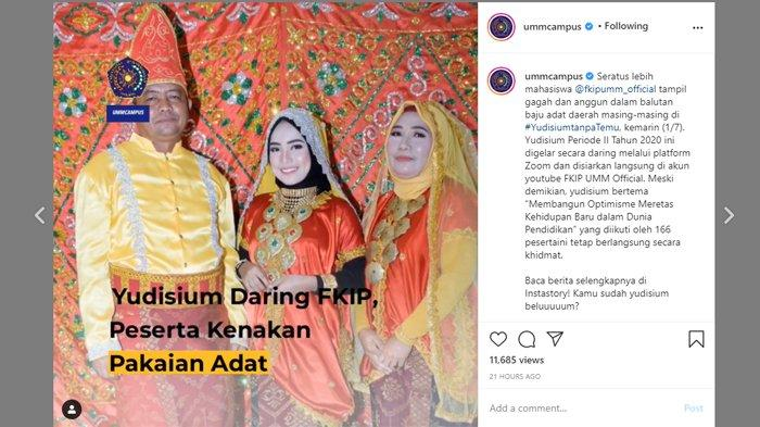 Viral Baju Adat Berbagai Daerah Ramaikan Yudisium Kampus Ternama di Jawa Timur, Ini Penjelasannya
