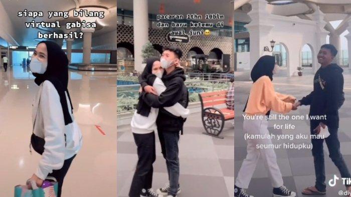 Kenal Lewat Instagram hingga Pacaran Virtual, Pasangan Kekasih Ini Berhasil Bertemu, Videonya Viral