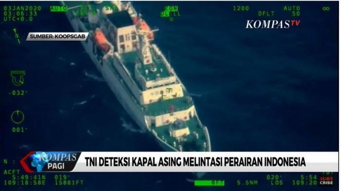Tangkap Layar YouTube KompasTV Visual Kapal Asing Masuk ke Natuna Tertangkap Kamera Pesawat Patroli Angkatan Laut