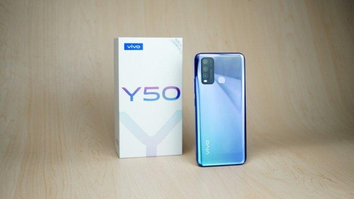 Vivo Y50 terbaru menyandang teknologi AI Quad camera dan Qualcomm Snapdragon 665.