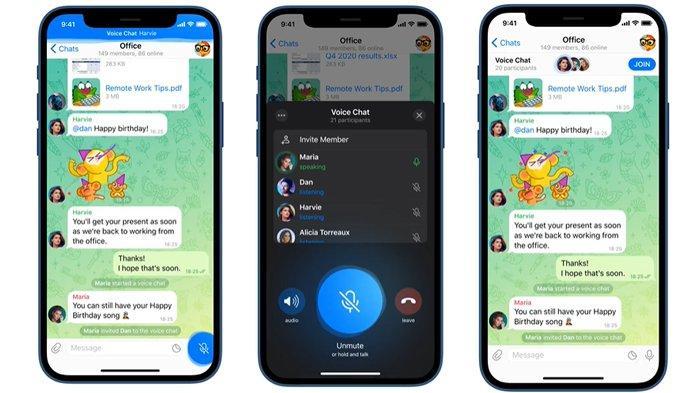 Voice chat dalam grup Telegram