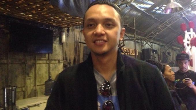 Vokalis grup musik Barasuara, Iga Massardi saat ditemui usai acara jumpa pers 'Urban Gigs x Unreleased Project' di kawasan SCBD, Sudirman, Jakarta Selatan, Rabu (22/2/2017).