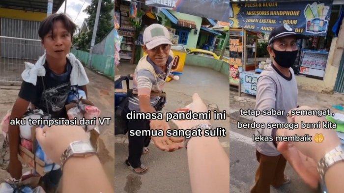 VIRAL Aksi Wanita Bagi-bagi Uang ke Pedagang yang Ditemui di Jalan, Ini Kisah Lengkap di Baliknya