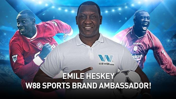 W88 Resmi Jadikan Emile Heskey Sebagai Brand Ambassador