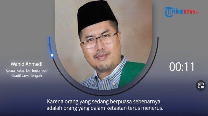 Ketua Ikadan Dai Indonesia (Ikadi) Jawa Tengah, Wahid Ahmadi.