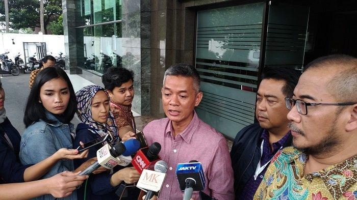 Komisioner KPU RI Wahyu Setiawan di Gedung Mahkamah Konstitusi, Jakarta Pusat, Jumat (5/7/2019).