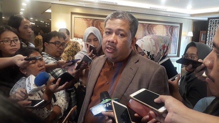 Wakil Ketua DPR Fahri Hamzah di Kompleks Parlemen,  Senayan, Jakarta, Rabu, (31/7/2019)