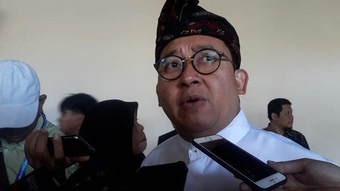 Wakil Ketua DPR RI Fadli Zon di sela-sela acara Forum Parlemen Dunia di Bali, Kamis, (5/9/2019). ?
