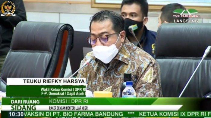 Raker Dengan Menlu Teuku Riefky Umumkan Tak Akan Lagi Jadi Pimpinan Komisi I Dpr Tribunnews Com Mobile