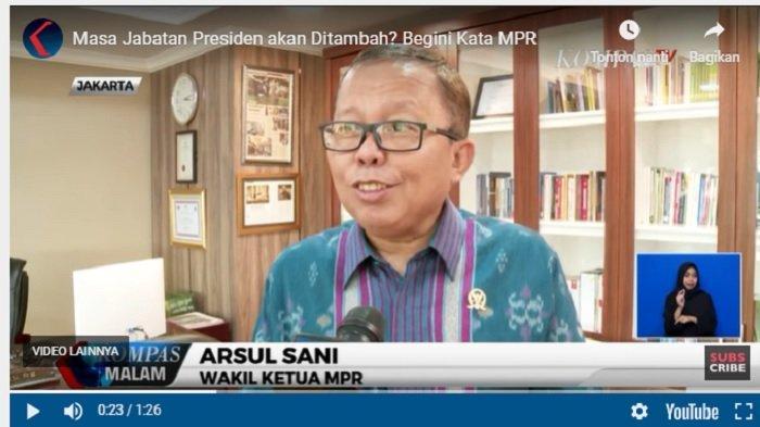 Wacana Masa Jabatan Presiden 3 Periode, Pimpinan MPR : Sampai Saat Ini Tidak Ada Pembicaraan