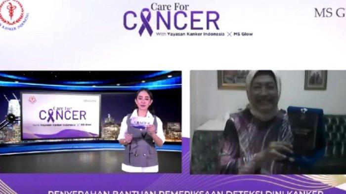 Tangkapan layar Wakil Ketua Umum YKI Murniati Widodo AS dalam webinar dengan topik 'Milenials Care for Cancer: Peduli & Cegah Kanker Sejak Dini', Selasa (23/2/2021).