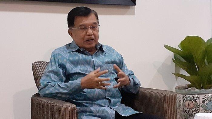 Wakil Presiden Jusuf Kalla di kantor wapres RI, Jalan Medan Merdeka Utara, Jakarta Pusat, Selasa (2/7/2019).