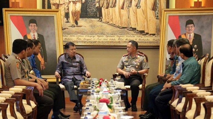 Wapres Jusuf Kalla Beri Arahan Terkait Kamtibmas Dalam Acara Apel Kasatwil 2018