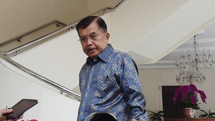 Wakil Presiden Jusuf Kalla yang ditemui di kantor wapres RI, Jalan Medan Merdeka Utara, Jakarta Pusat, Selasa (16/7/2019). (Tribunnews.com/ Rina Ayu)