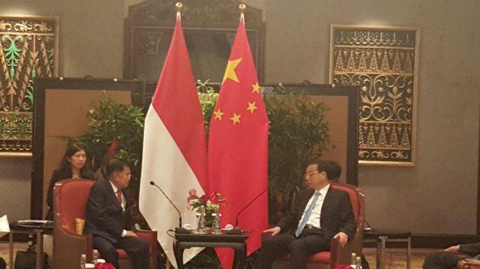 Bertemu PM China, Wapres Kalla: Kerja Sama Indonesia dan Tiongkok Makin Komprehensif