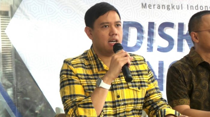 Wakil Sekretaris Jenderal (Sekjen) Partai Golkar, Dave Laksono saat ditemui dalam sebuah diskusi di kawasan Kebayoran Baru, Jakarta Selatan, Jumat (24/11/2017).