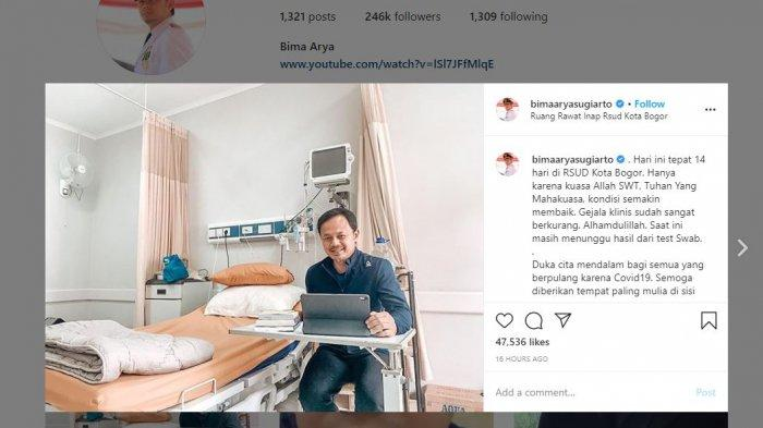 Wali Kota Bogor Bima Arya Bagikan Kondisi Terbarunya, Semakin Membaik dan Menunggu Hasil Swab