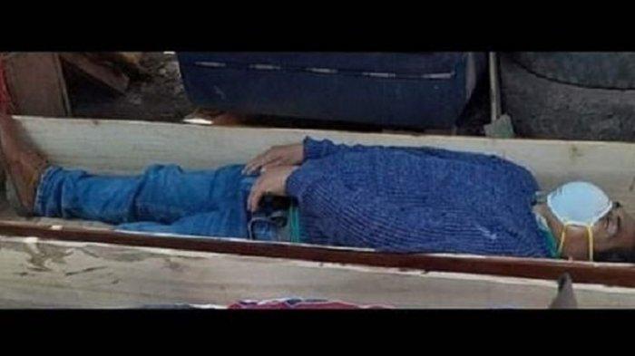 Inilah sosok Wali Kota Tantara di Peru, Jamie Rolando Urbina Torres, yang pura-pura mati saat hendak ditangkap karena melanggar aturan untuk mencegah virus corona dengan minum-minum bersama temannya.