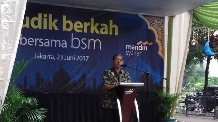 Wali Kota Jakarta Pusat Mangara Pardede Saat Memberikan Sambutan Dalam Kegiatan