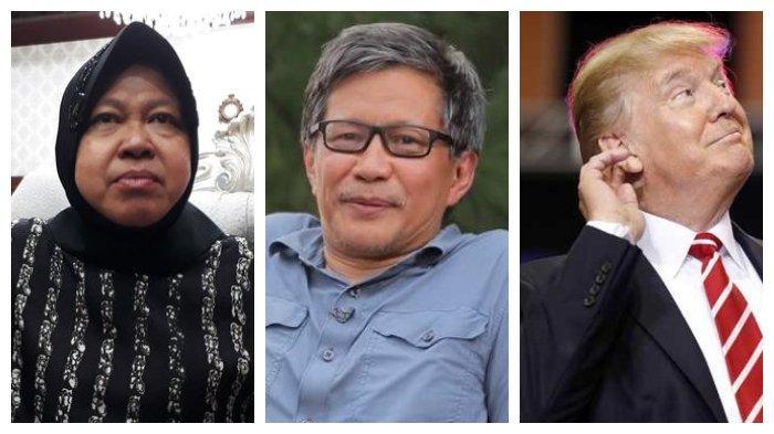 Rocky Gerung Bandingkan Penghinaan Wali Kota Surabaya Risma dengan Presiden AS Donald Trump