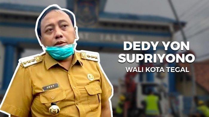 Wali Kota Tegal, Dedy Yon Supriyono memulai local lockdown di Kota Tegal hari ini, Senin (30/3/2020).