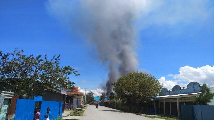 Kerusuhan kembali terjadi di Papua, tepatnya di Kota Wamena, Senin (23/9/2019).