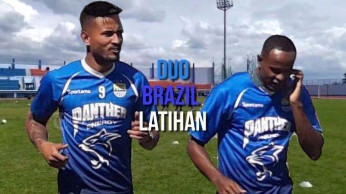 Wander Luiz dan Joel Vinicius mengikuti latihan perdana secara penuh di Stadion SPOrT Jabar Arcamanik, Senin (13/1/2020).   Artikel ini telah tayang di tribunjabar.id dengan judul Begini Kondisi Duo Brasil Usai Jalani Latihan Hingga Senin Ini, Kata Pelatih Fisik Persib Bandung,