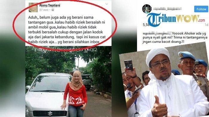 Sayembara Gadis Cantik Ini Jadi Viral,Dia Relakan Mobilnya bila Habib Rizieq Bersalah